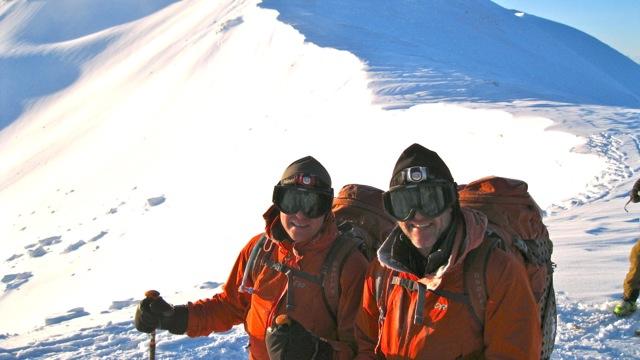 Elk Mountain Grand Traverse top of Star Pass checkpoint Chris Kopf Rick Kopf