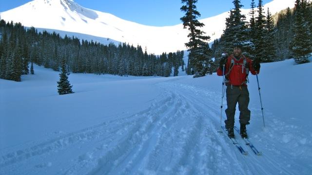 Elk Mountain Grand Traverse next stop Barnard Hut