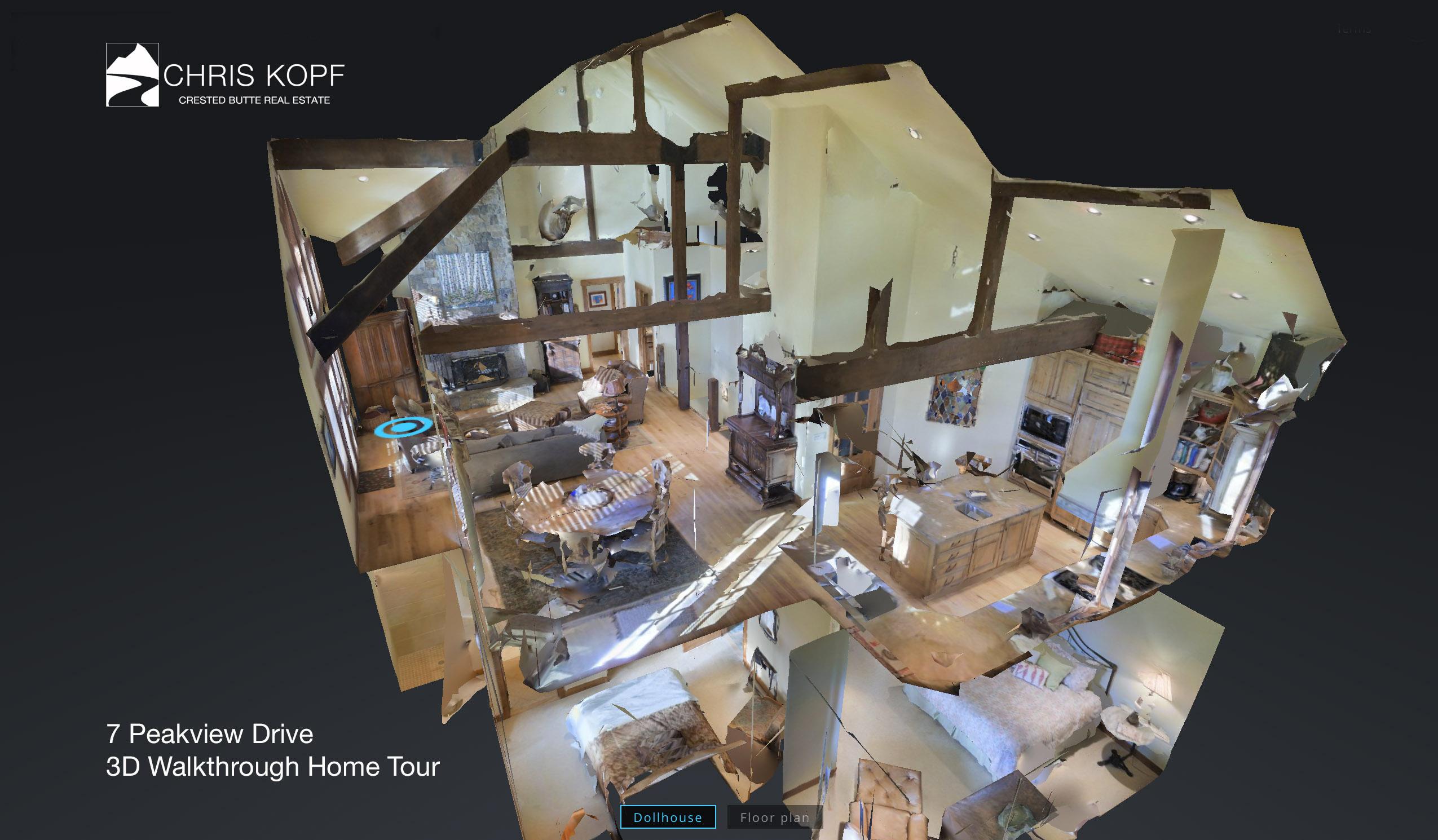 New 3d Walkthrough Home Tour 7 Peakview Mt Crested Butte
