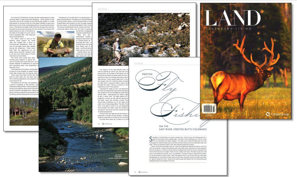 Kopf Published LAND Magazine Pristine Fly Fishing Crested Butte!